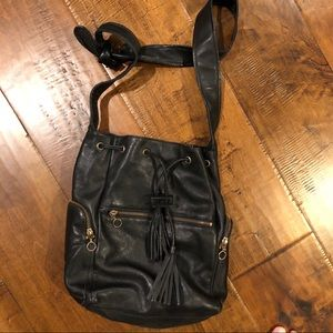 LF black bucket bag